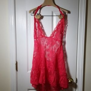 Victoria's secret red sheer chemise XL